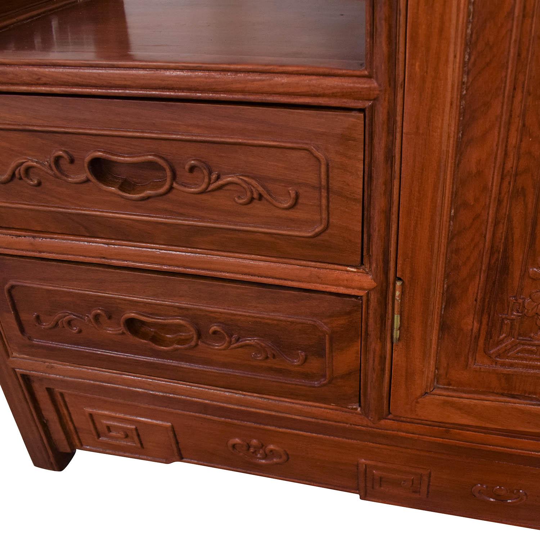 Carved Modular Bookcase nj