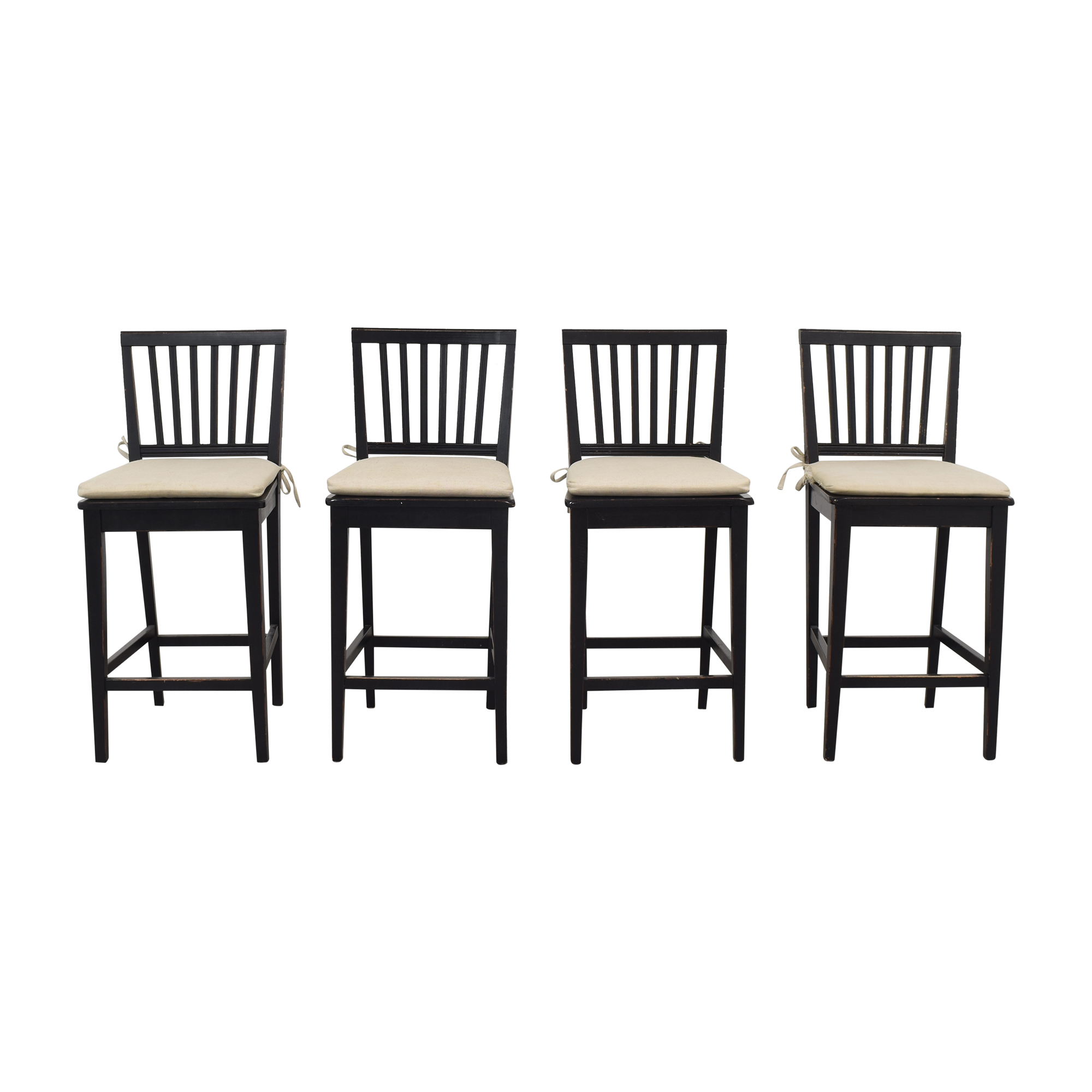 Crate & Barrel Crate & Barrel Buying & Design Counter Height Chairs black & off white