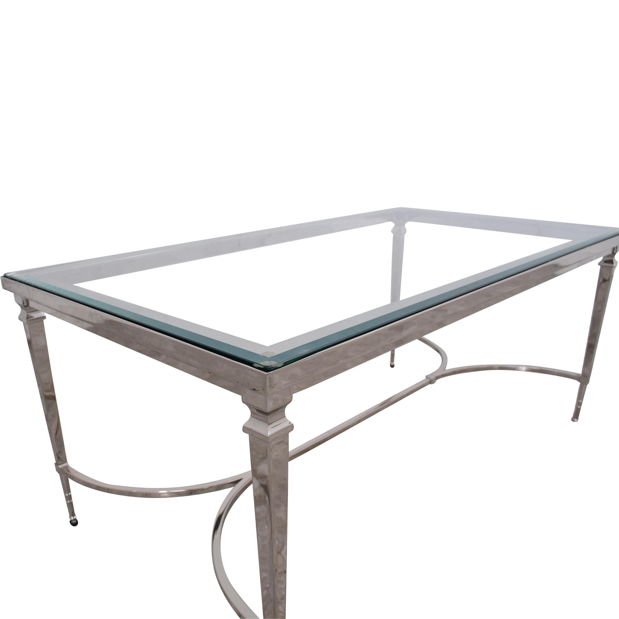 Williams Sonoma Williams Sonoma Cosmopolitan Coffee Table silver