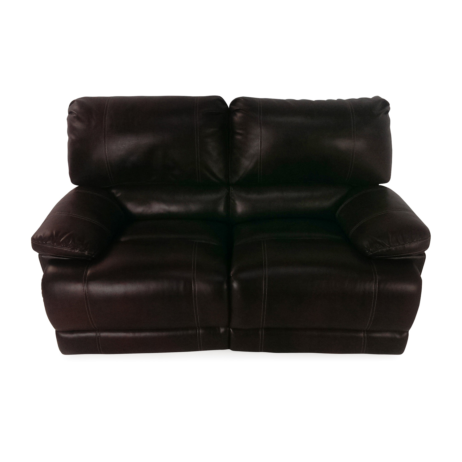 Bobs Furniture Bobs Furniture Reclining Loveseat Brown