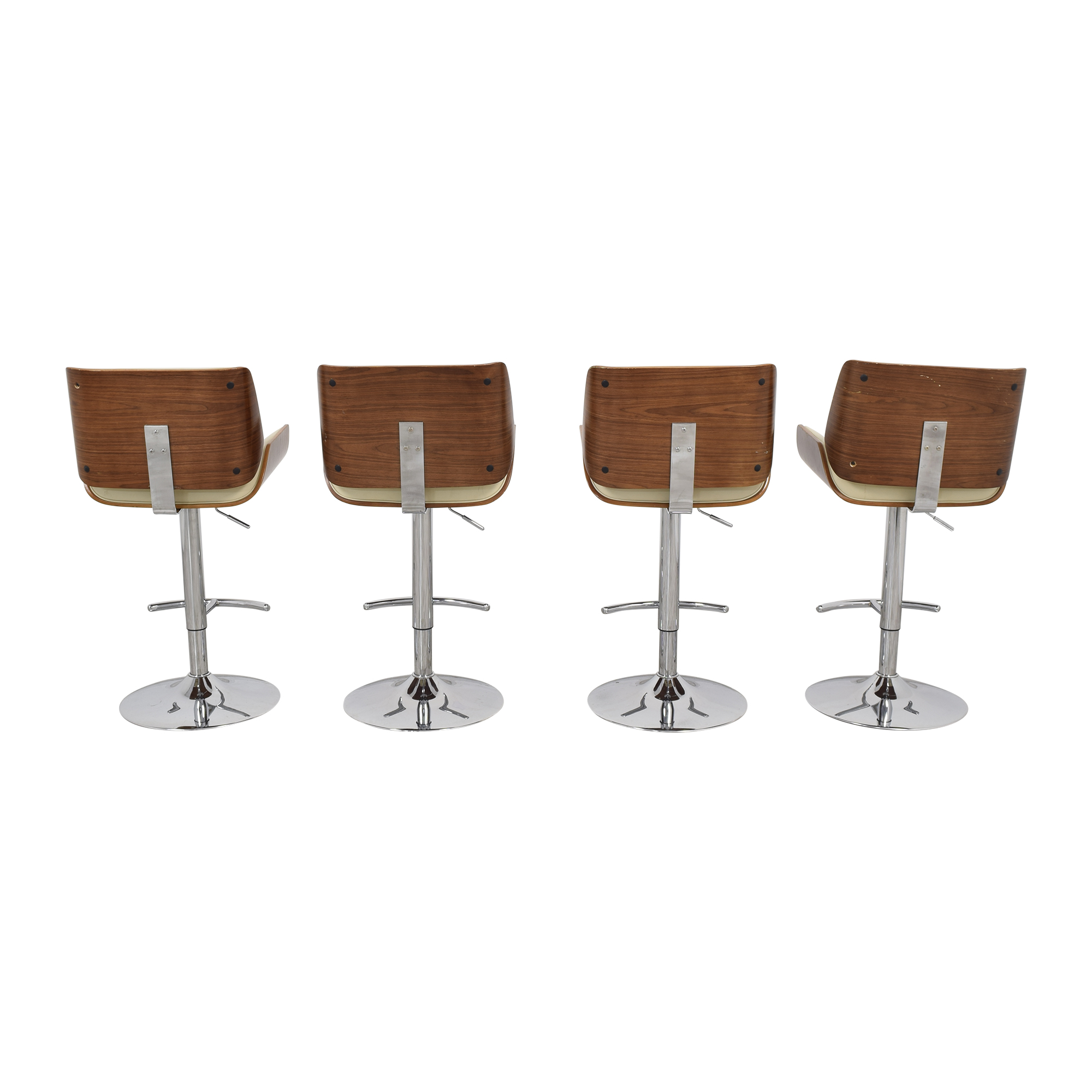Mid Century Modern Swivel Adjustable Bar Stools on sale