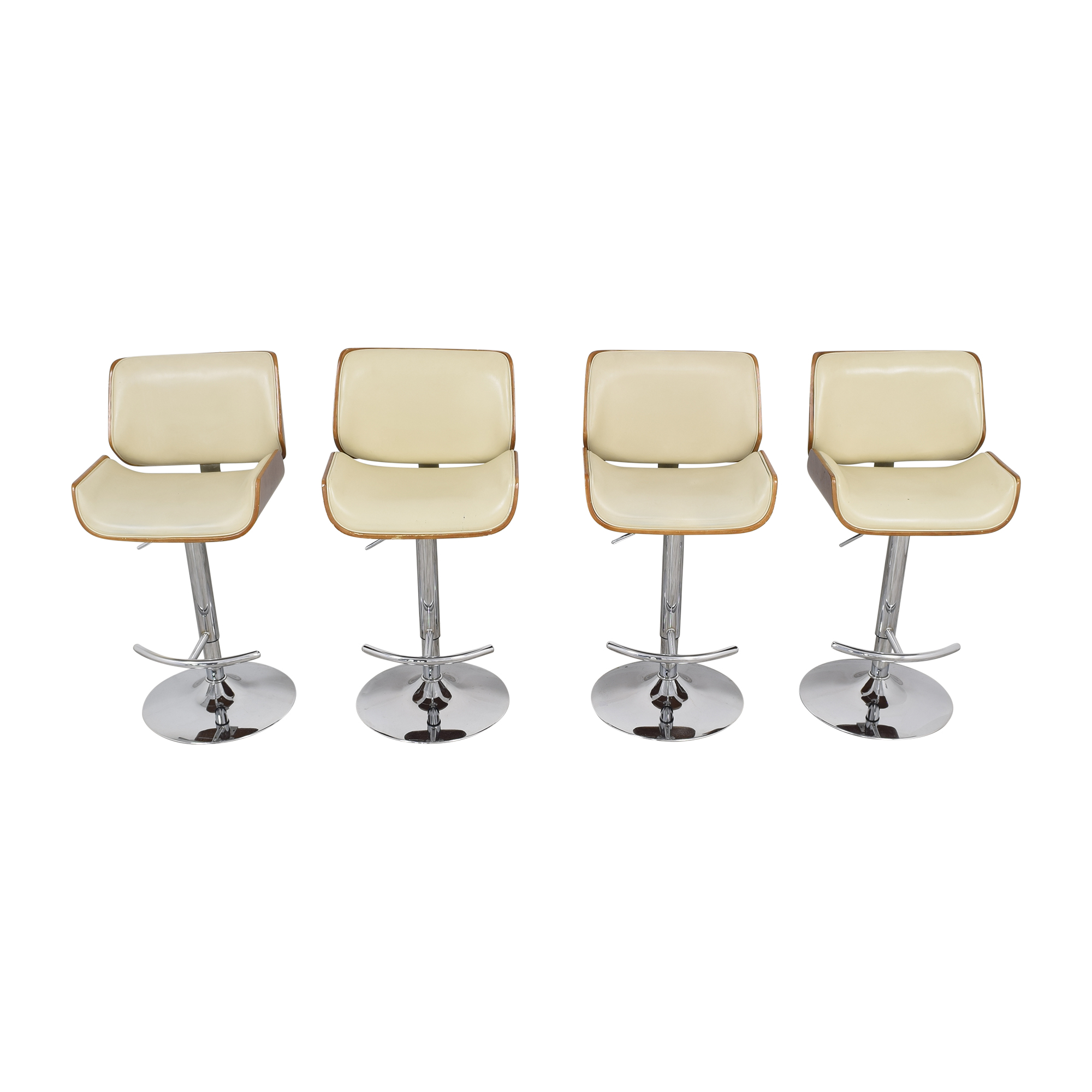 Mid Century Modern Swivel Adjustable Bar Stools discount