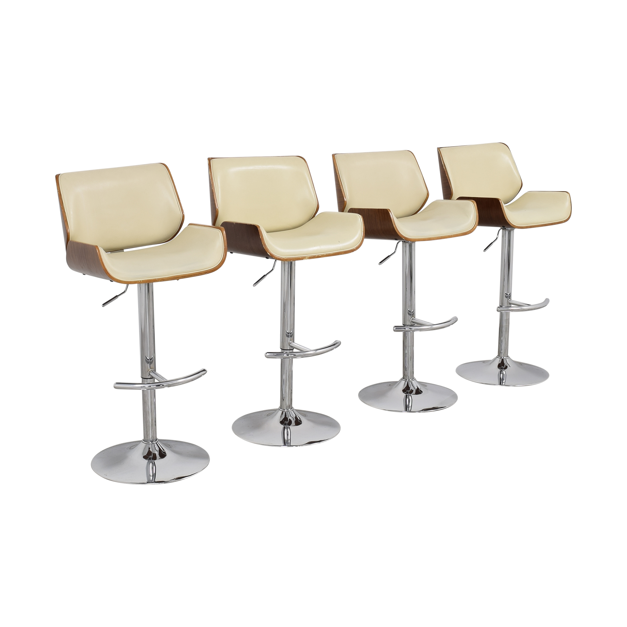 shop Mid Century Modern Swivel Adjustable Bar Stools  Chairs