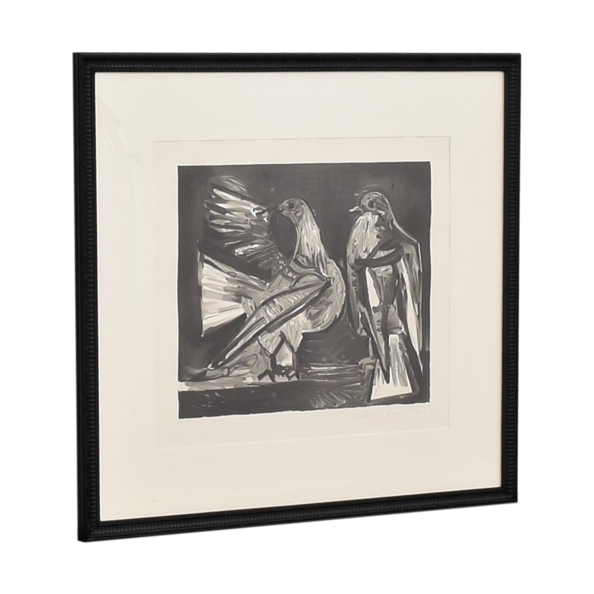 Pablo Picasso Deux Pigeons Framed Lithograph nyc