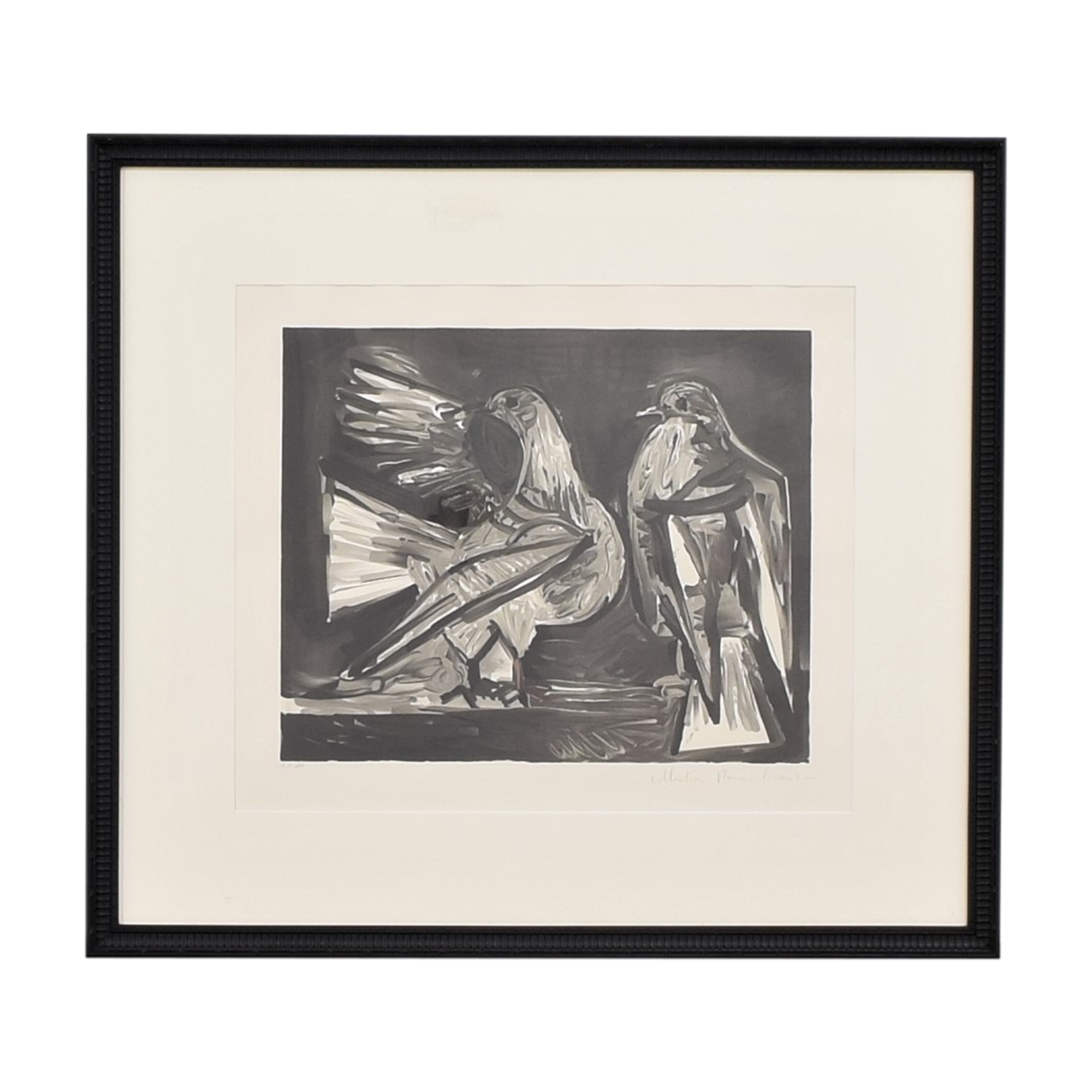 Pablo Picasso Deux Pigeons Framed Lithograph second hand