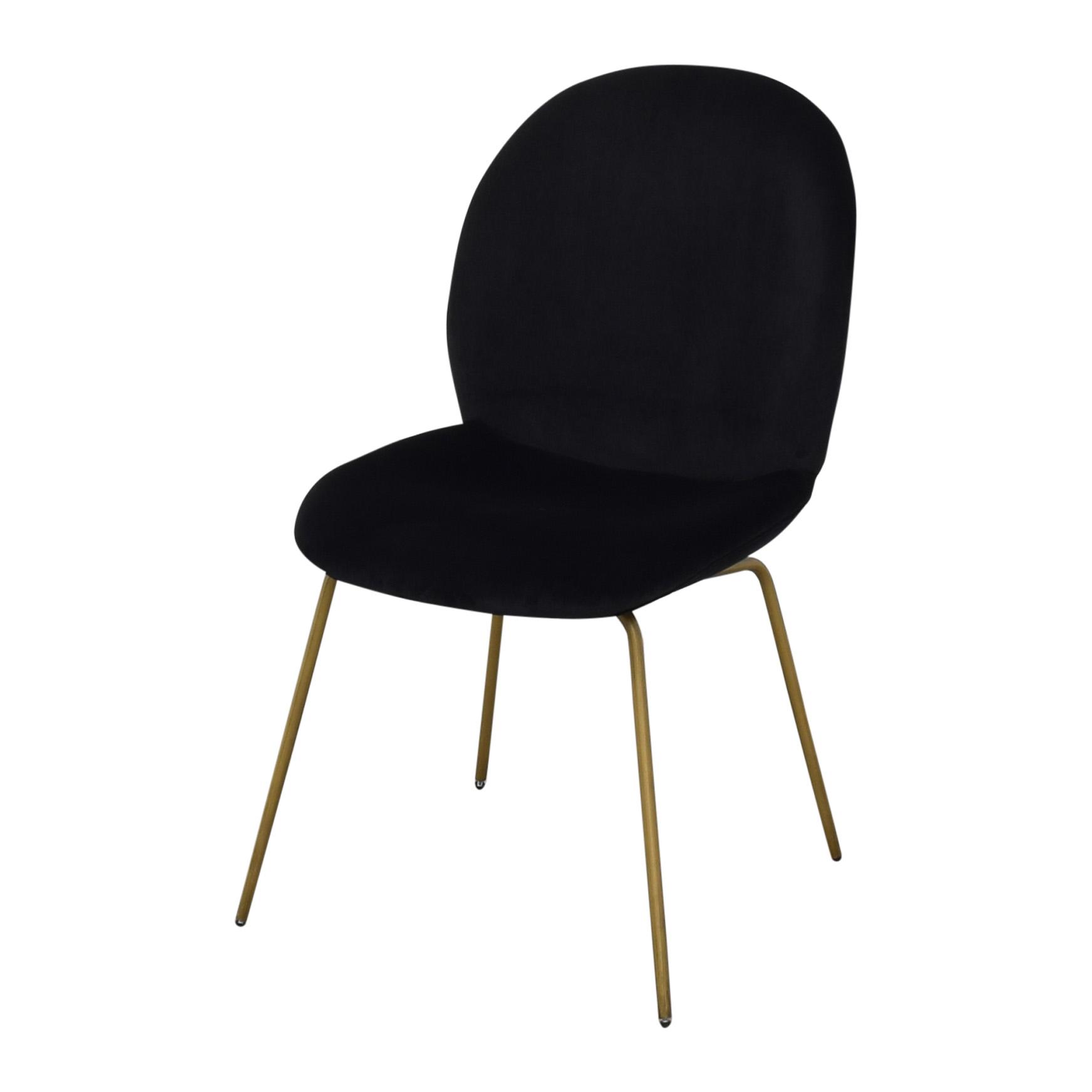 World Market World Market Vivian Velvet Dining Chairs black & gold