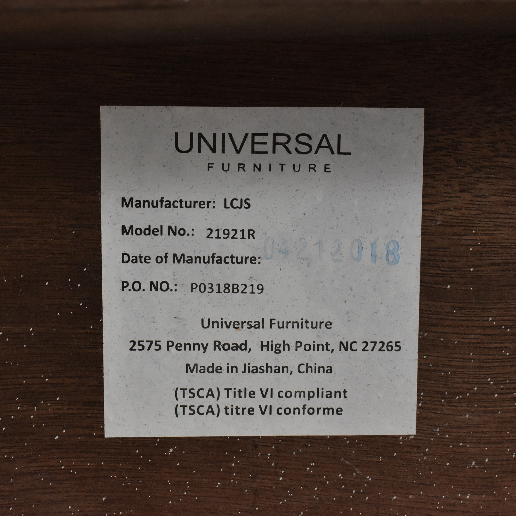 Universal Furniture Macy's Avery Storage Queen Bed dimensions