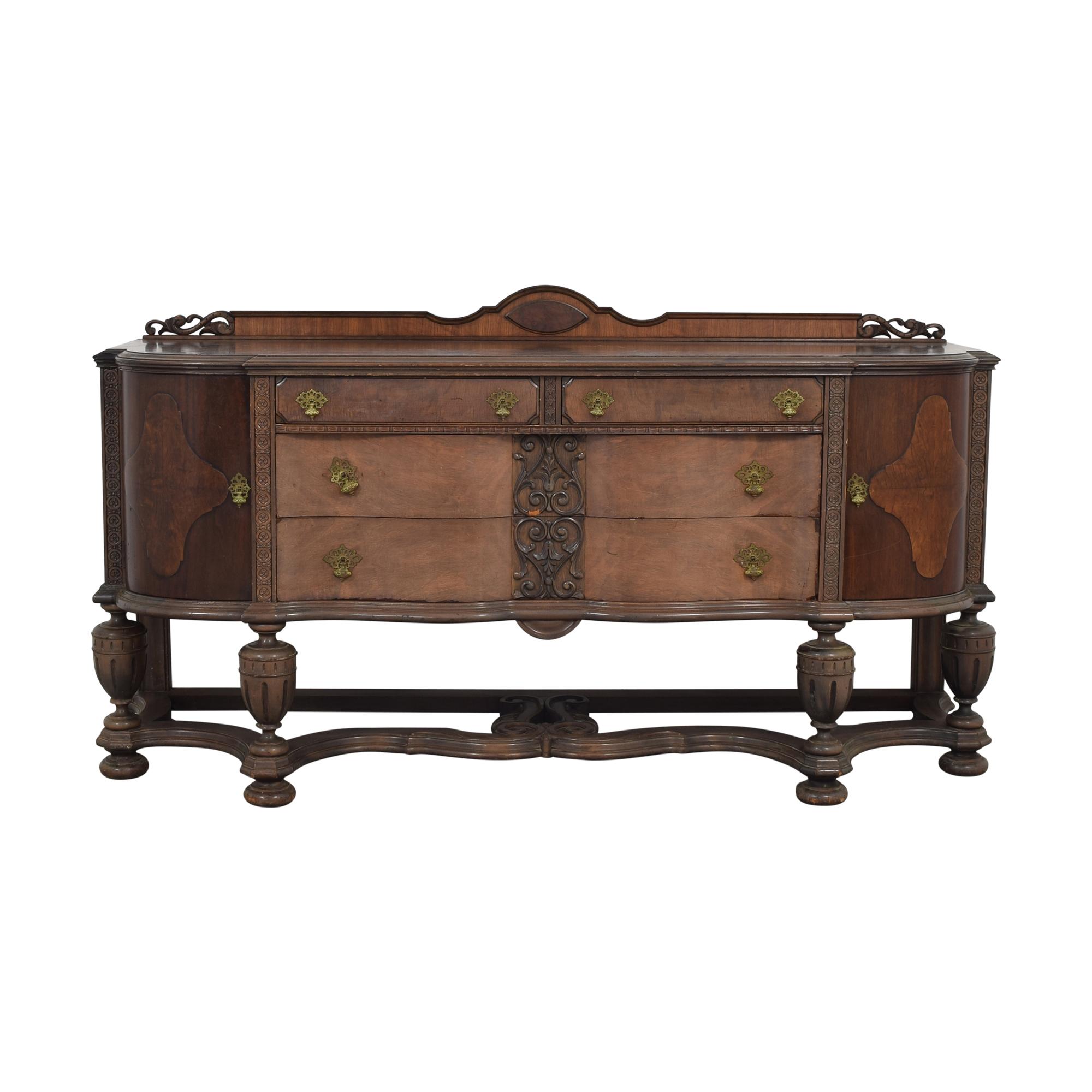 Vintage Jacobean Style Sideboard