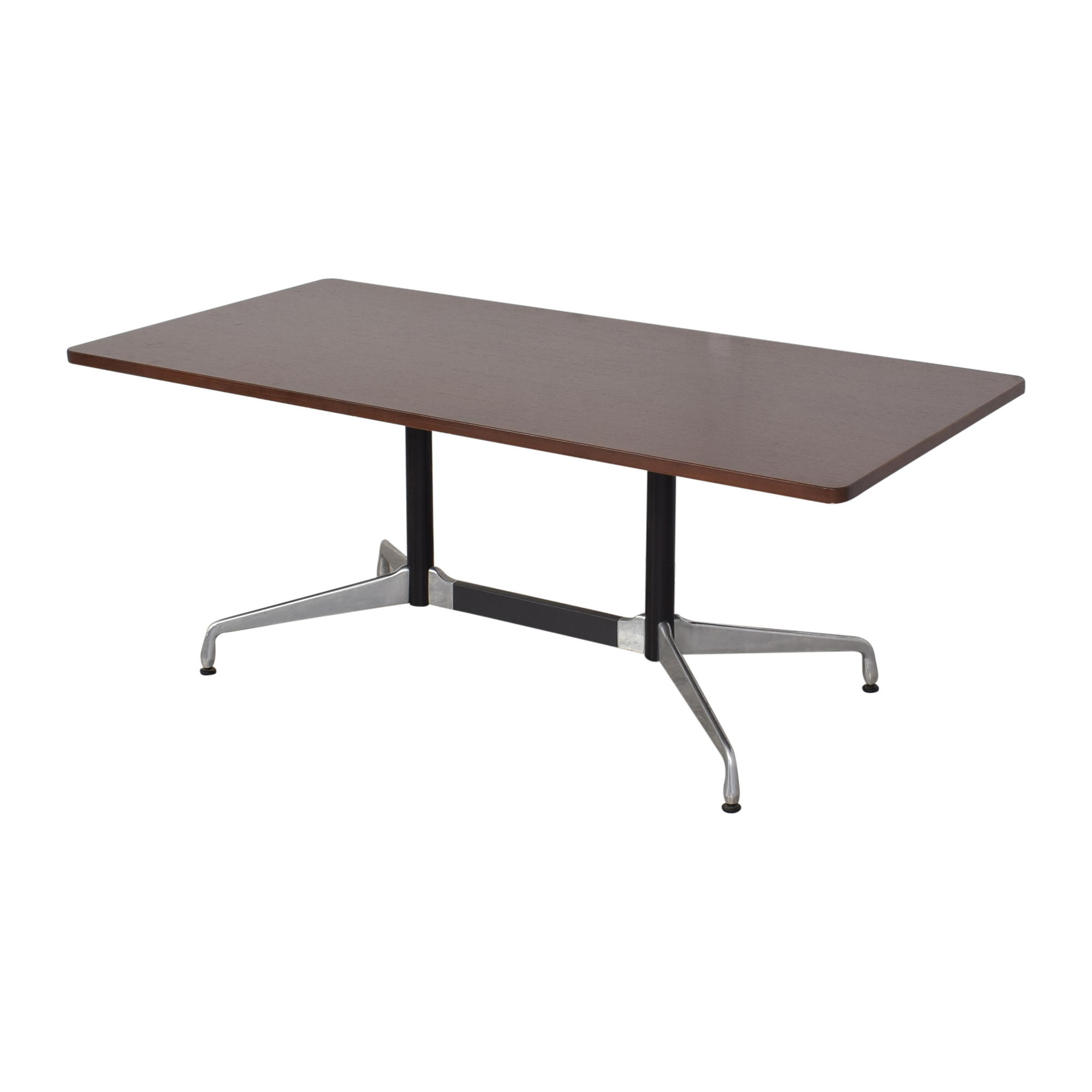 Herman Millier Eames Table with Rectangular Top and Segmented Base Herman Miller