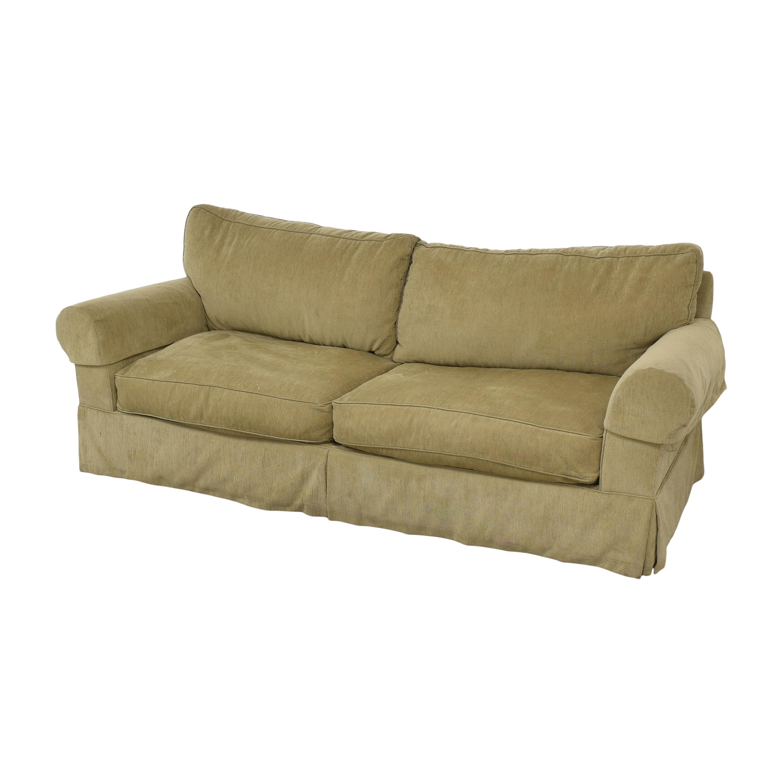 Restoration Hardware Restoration Hardware Grand Scale Roll Arm Slipcover Sofa beige
