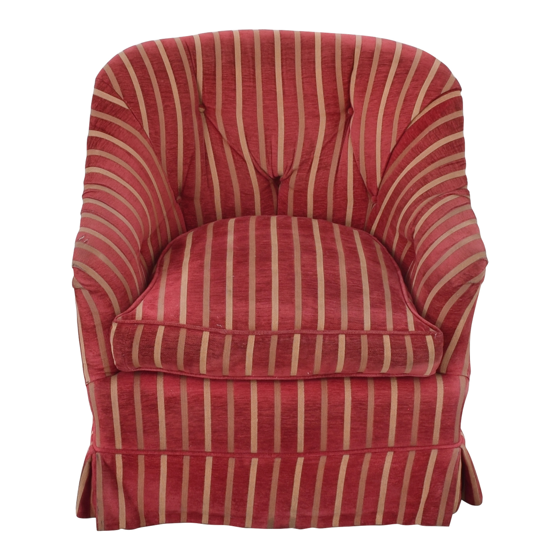 Pin-Tucked Swivel Arm Chair / Accent Chairs