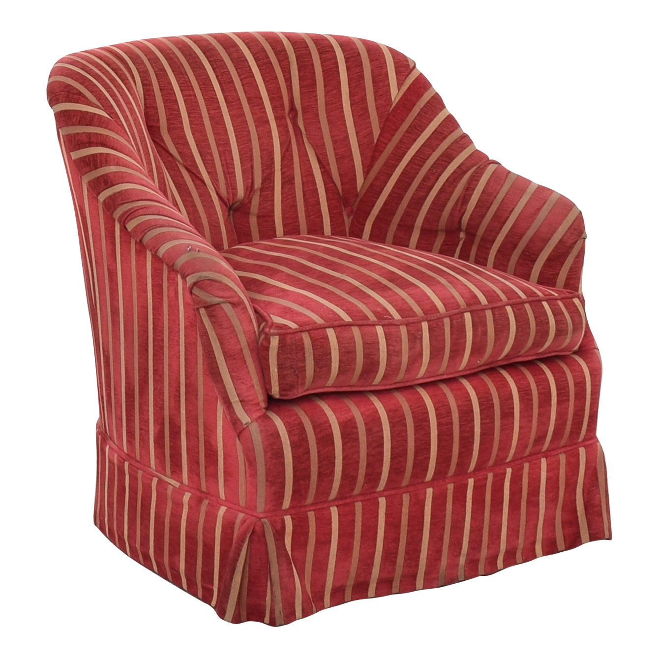 Pin-Tucked Swivel Arm Chair / Chairs