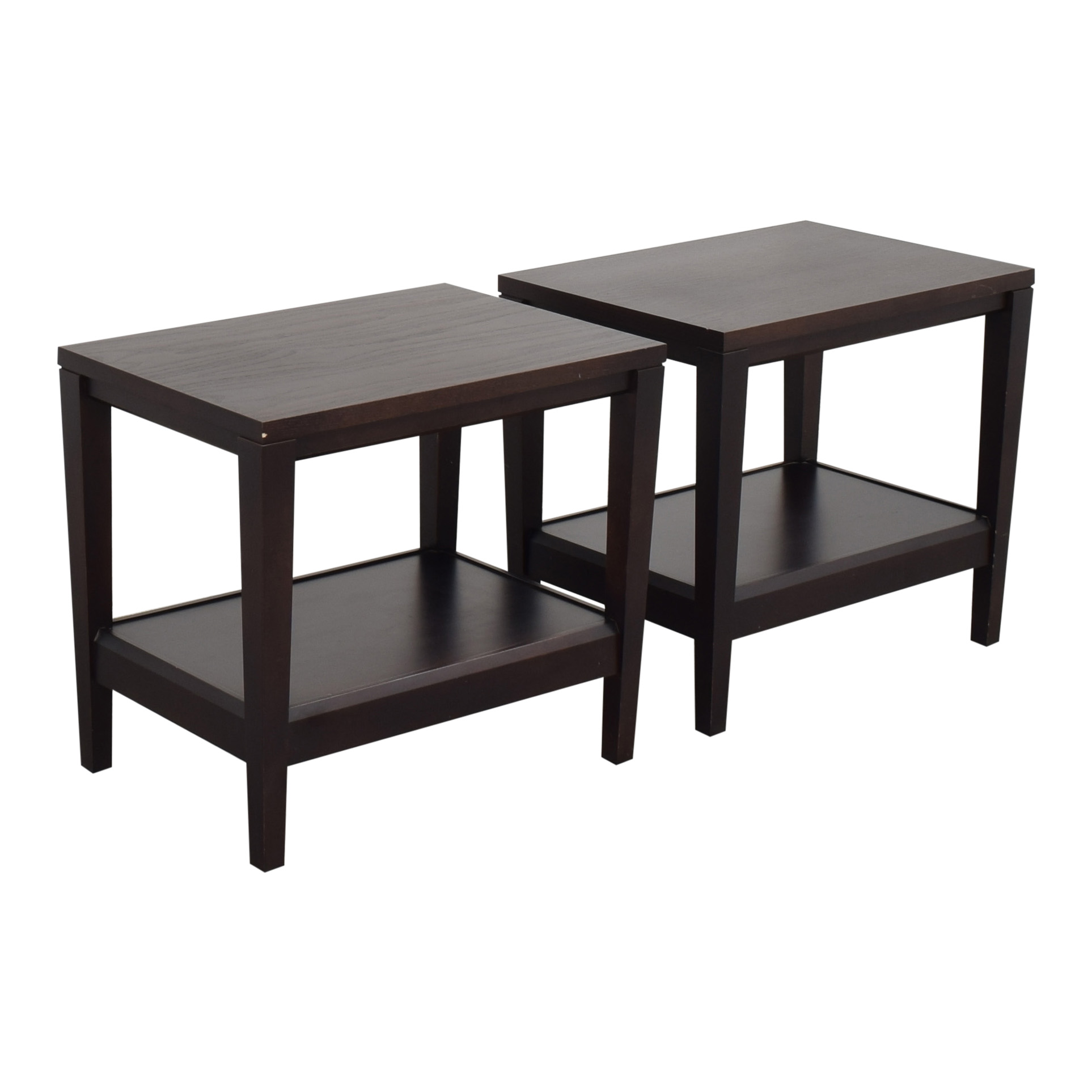 Baronet Crate & Barrel Baronet Side Tables dimensions