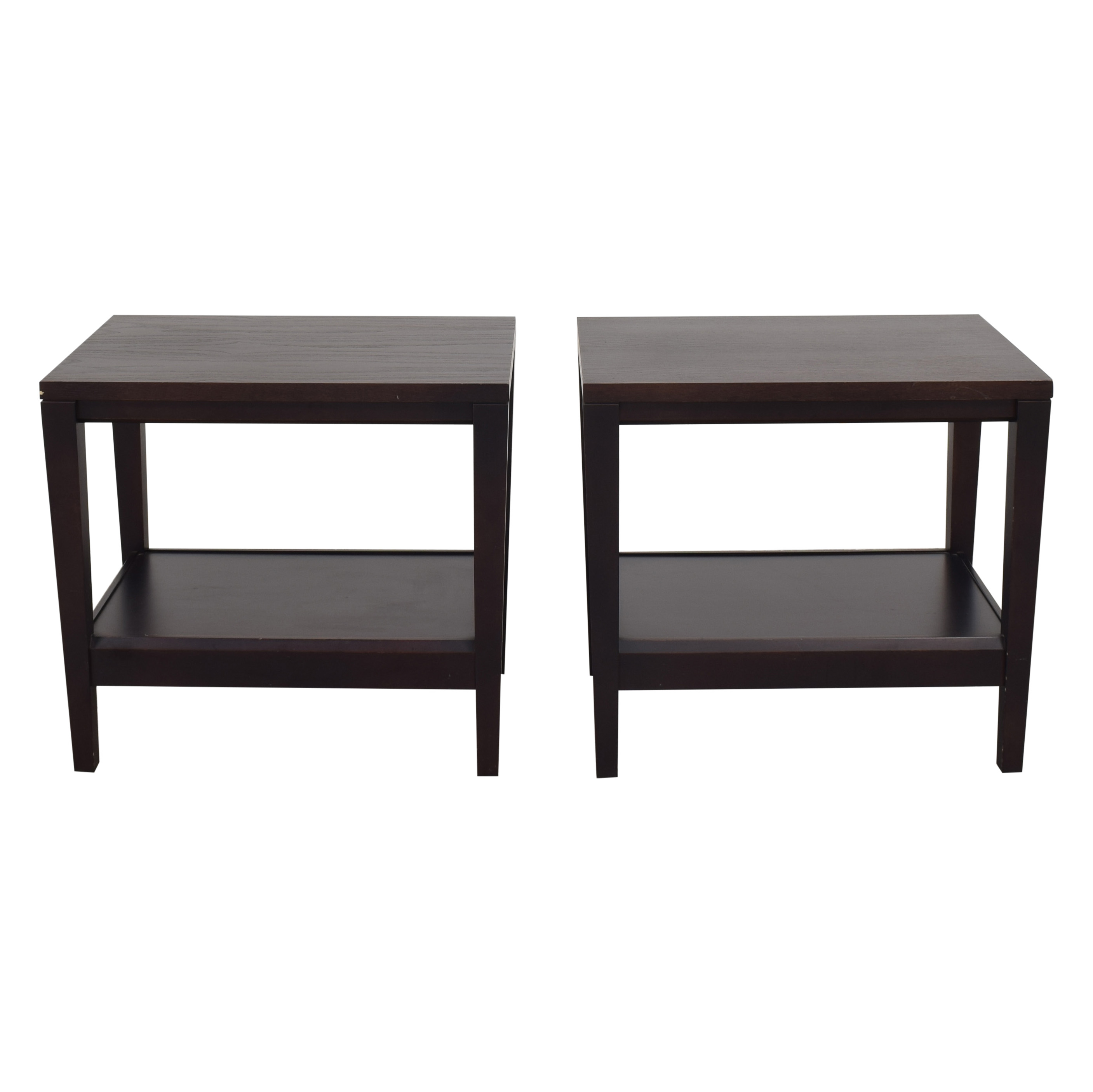 shop Crate & Barrel Baronet Side Tables Baronet