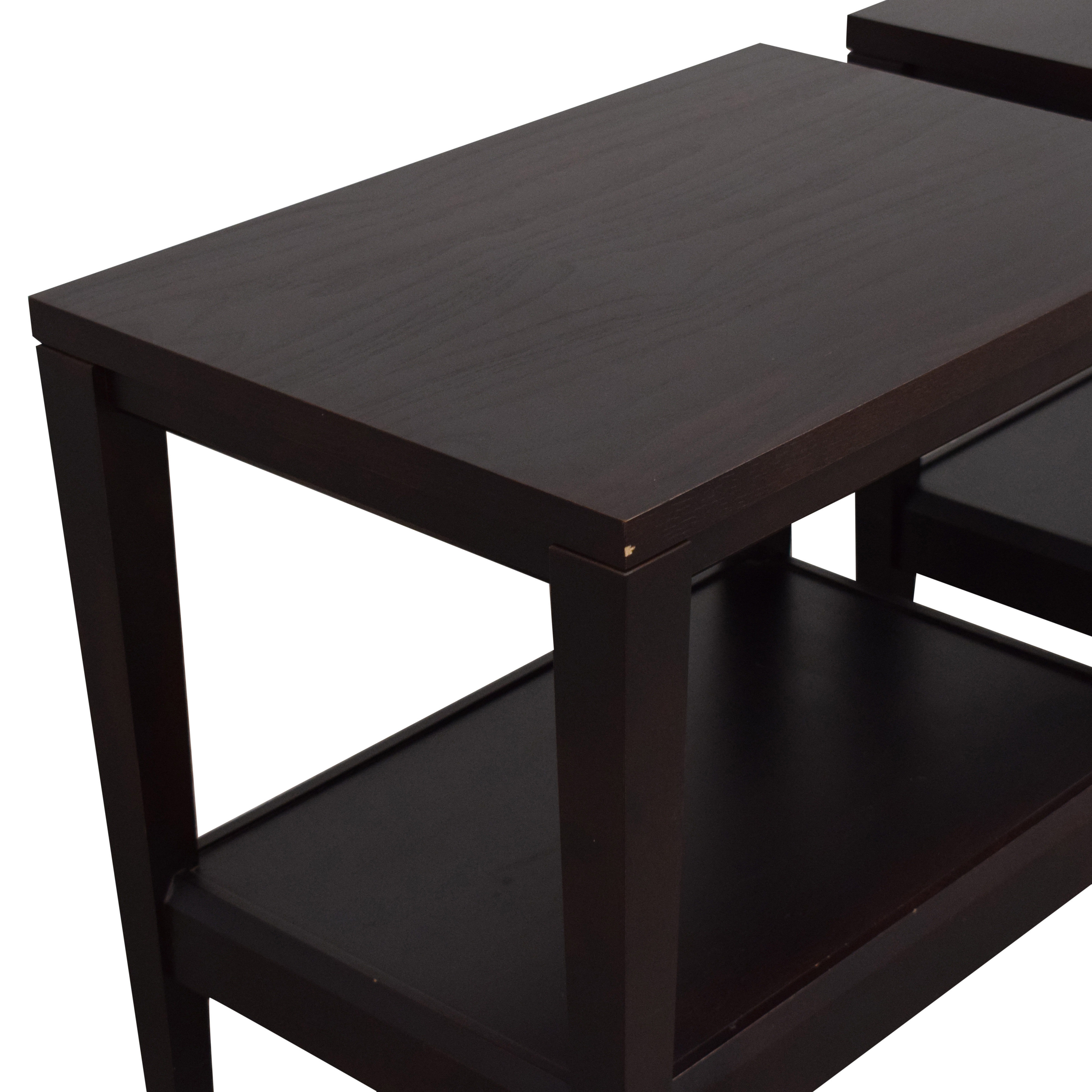 Baronet Crate & Barrel Baronet Side Tables used