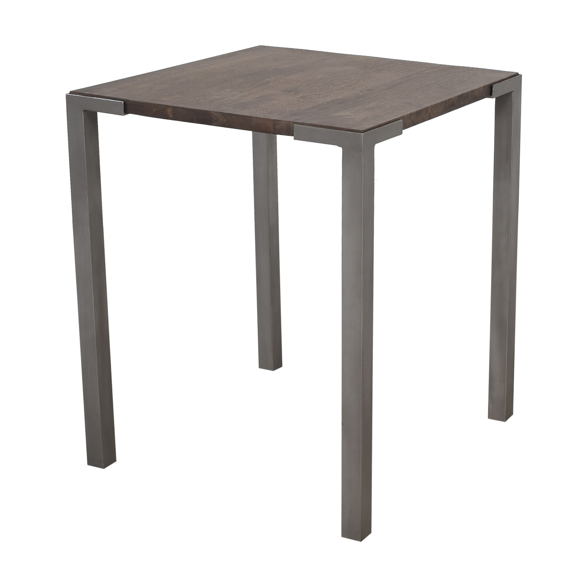 CB2 CB2 Stilt Two Top Counter Table dark brown