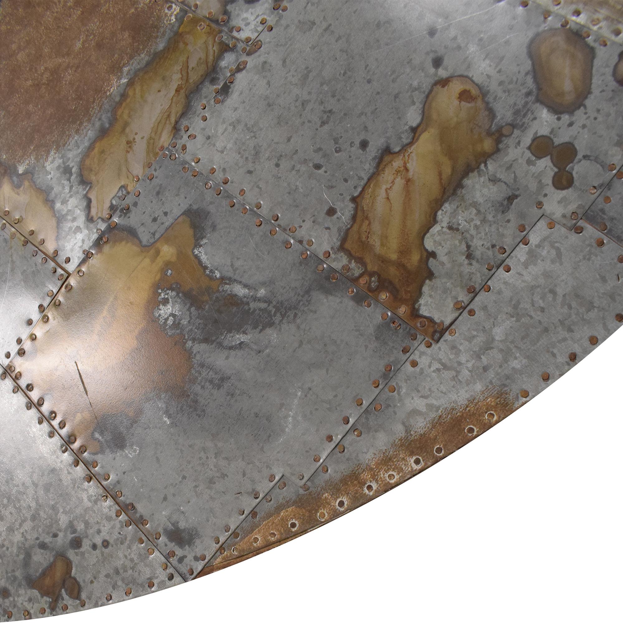 Pottery Barn Galvanized Metal Patchwork Art / Decor