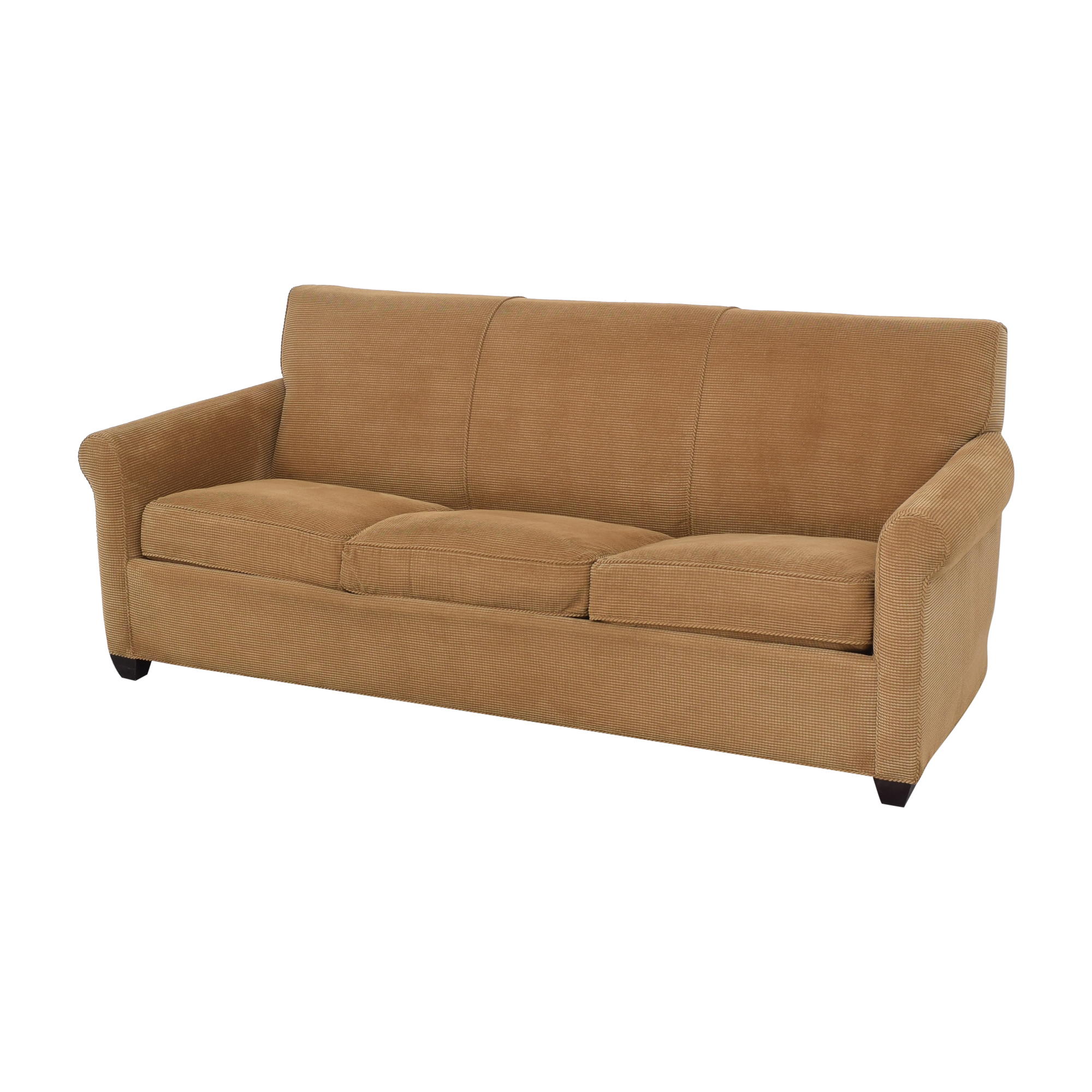 Crate & Barrel Crate & Barrel Rolled Arm Queen Sleeper Sofa discount