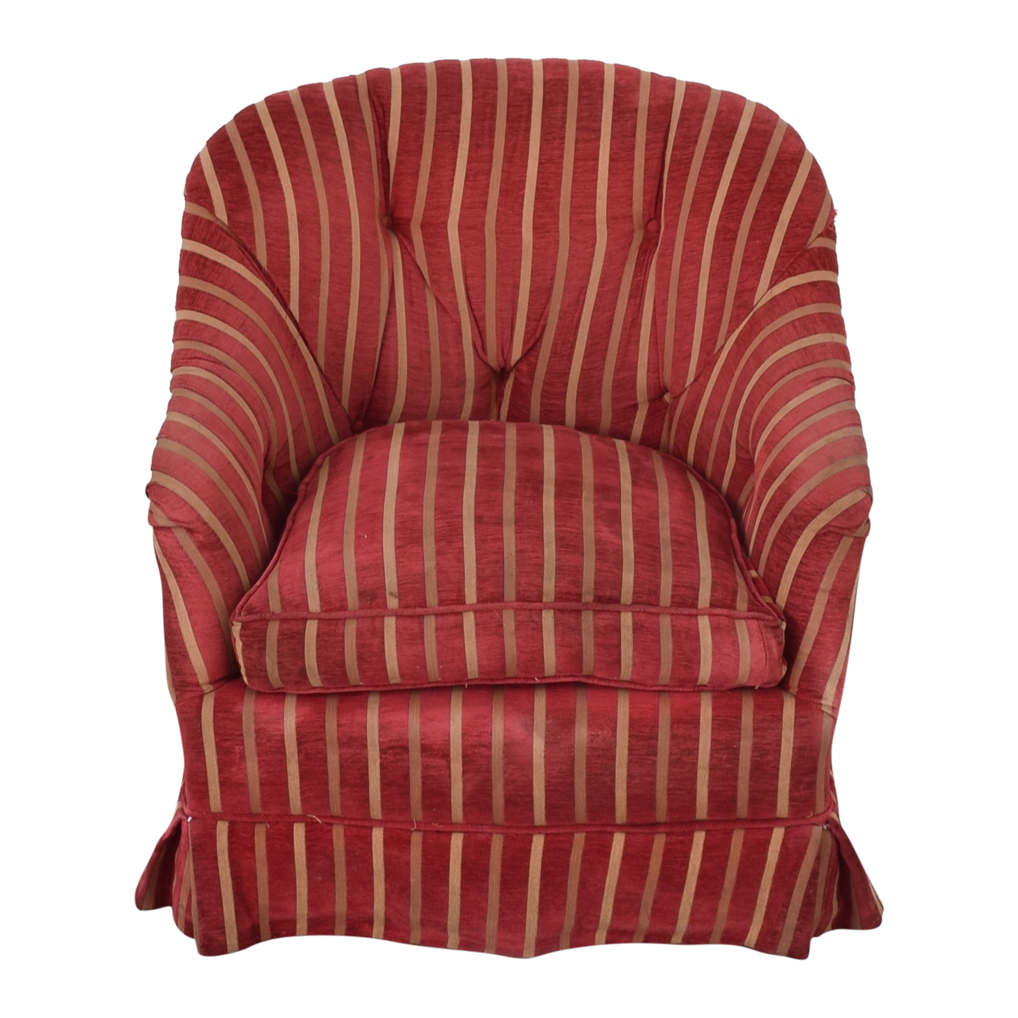 Pin-Tucked Swivel Arm Chair used