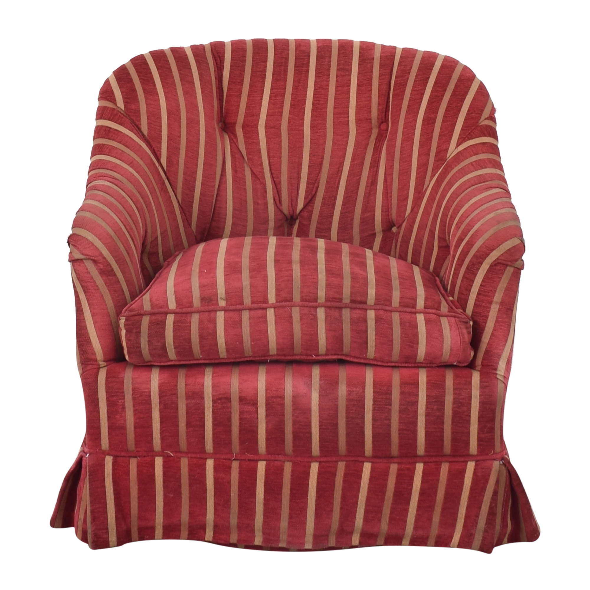 shop Pin-Tucked Swivel Arm Chair
