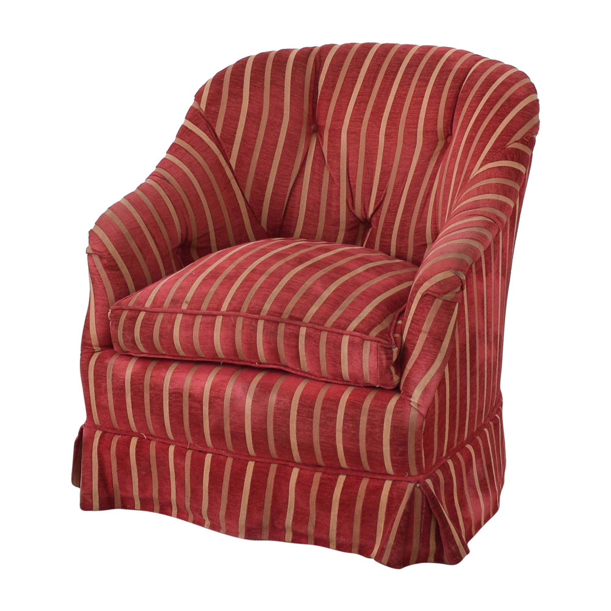 buy  Pin-Tucked Swivel Arm Chair online