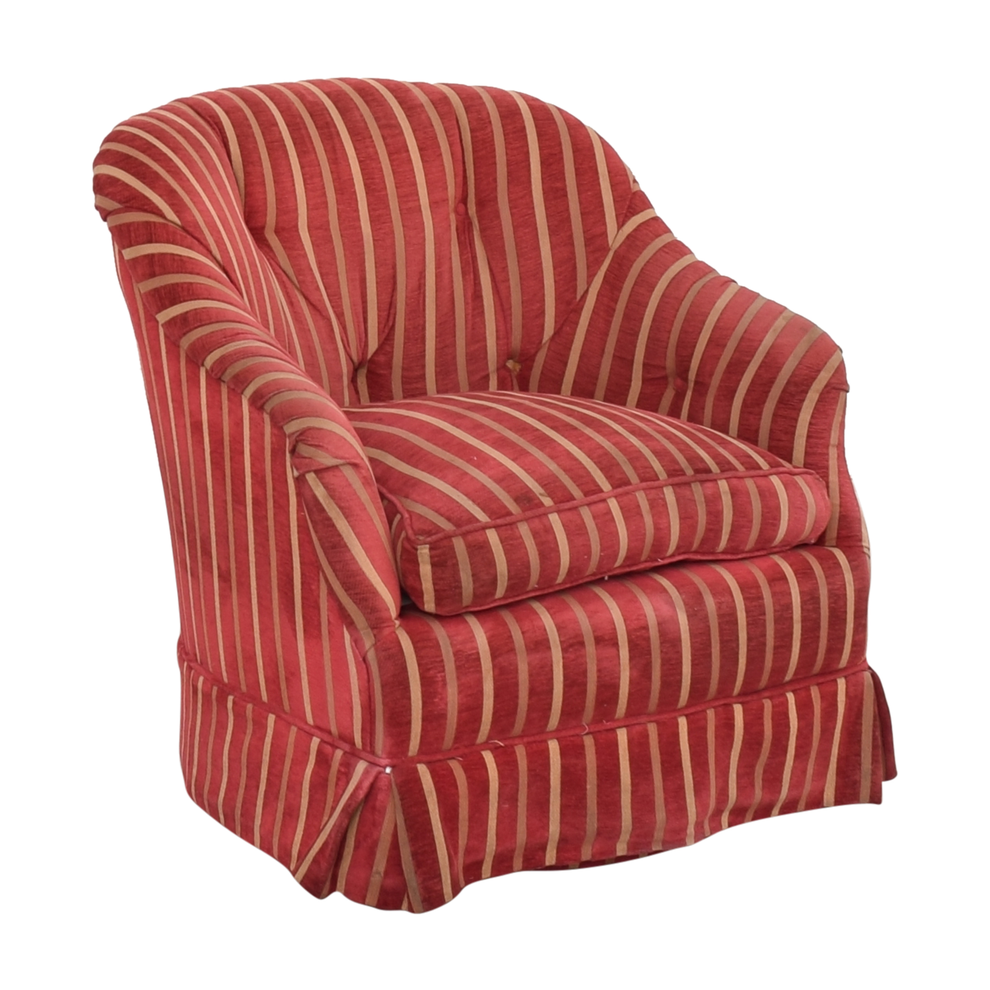 Pin-Tucked Swivel Arm Chair