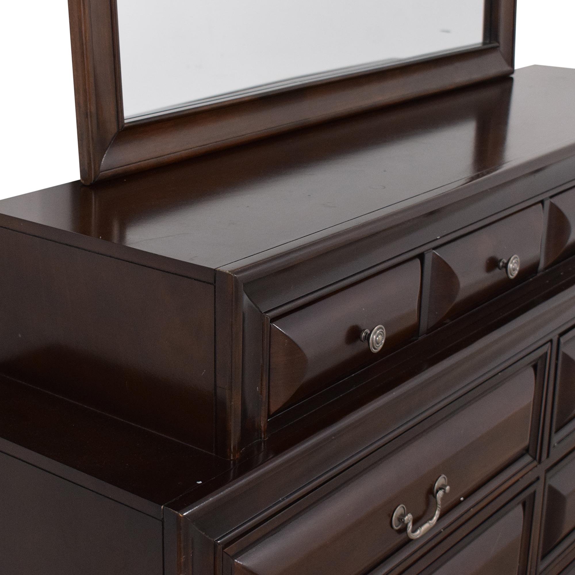 Ten Drawer Dresser with Mirror Dressers
