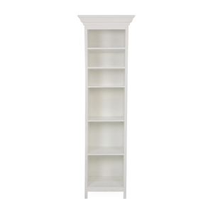 Pottery Barn Pottery Barn White Wood Linen Shelf discount