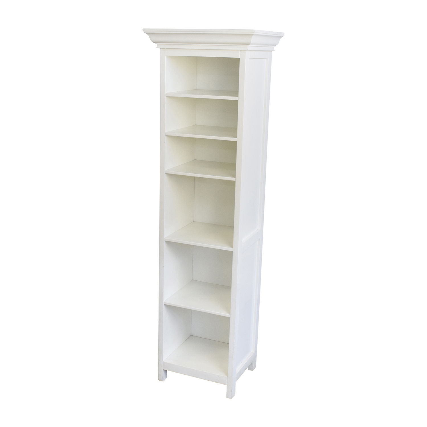 82% OFF   Pottery Barn Pottery Barn White Wood Linen Shelf / Storage