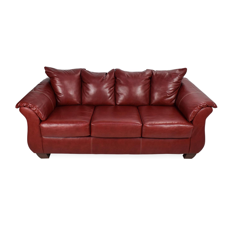 Haymarket Haymarket Sierra Red Leather Sofa second hand