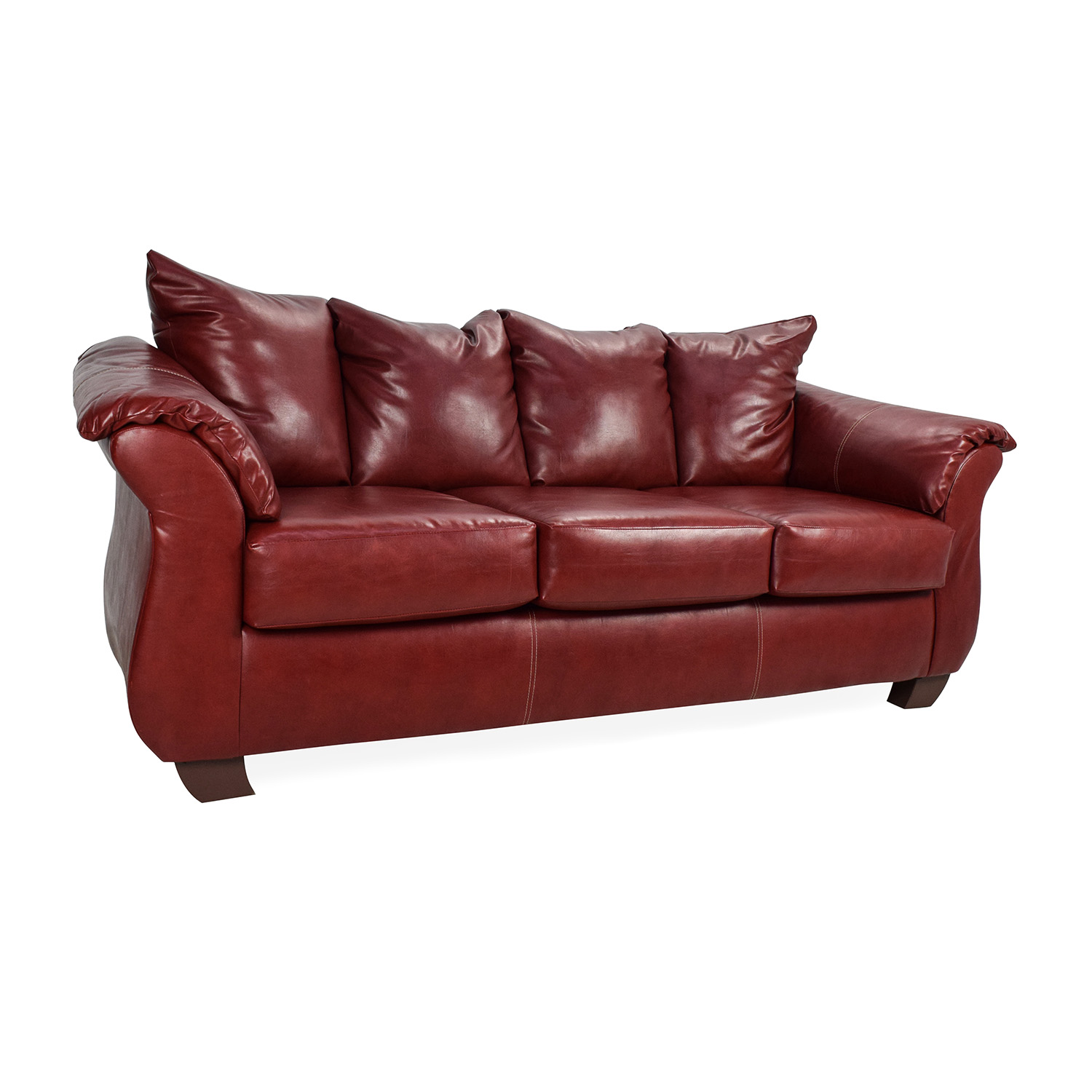 72 Off Haymarket Haymarket Sierra Red Leather Sofa Sofas