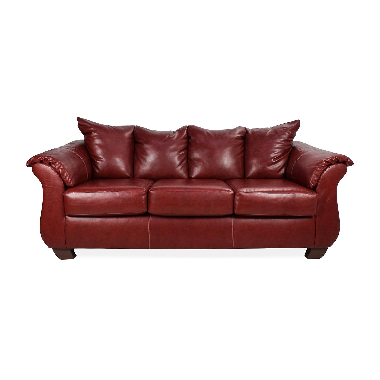 shop Haymarket Haymarket Sierra Red Leather Sofa online