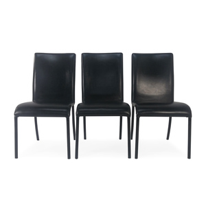 Pier 1 Pier1 Wrought Iron Faux Leather Dining Chairs on sale