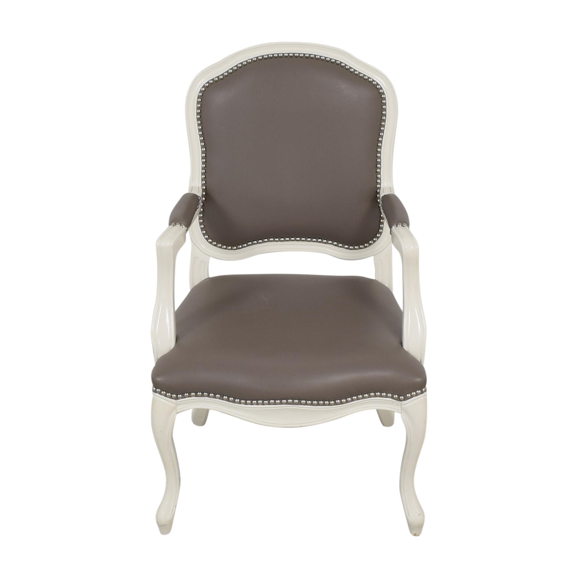 CB2 CB2 Stick Around Arm Chair by Novogratz white and grey