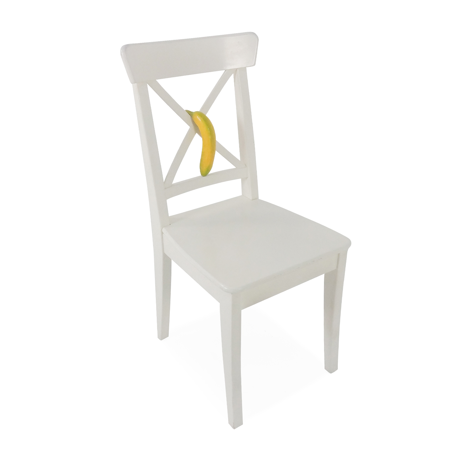 50 Off Ikea Ingolf White Dining Chair Chairs