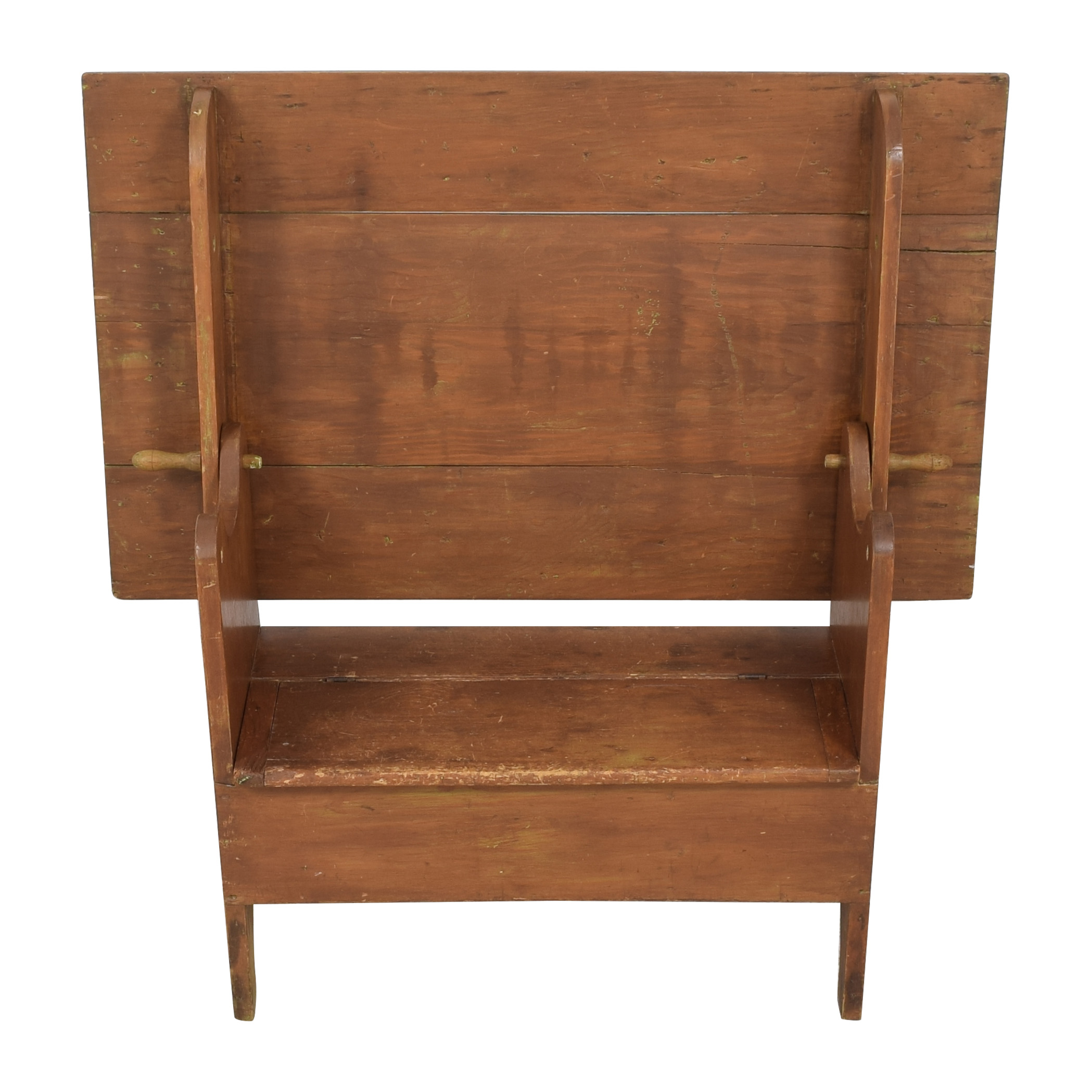 Hutch Table Monk's Bench with Trunk dimensions