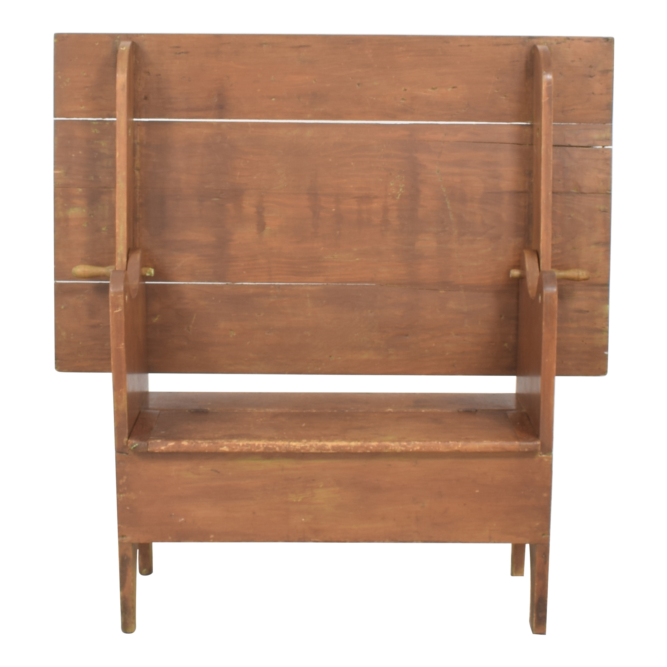 buy Hutch Table Monk's Bench with Trunk  Storage