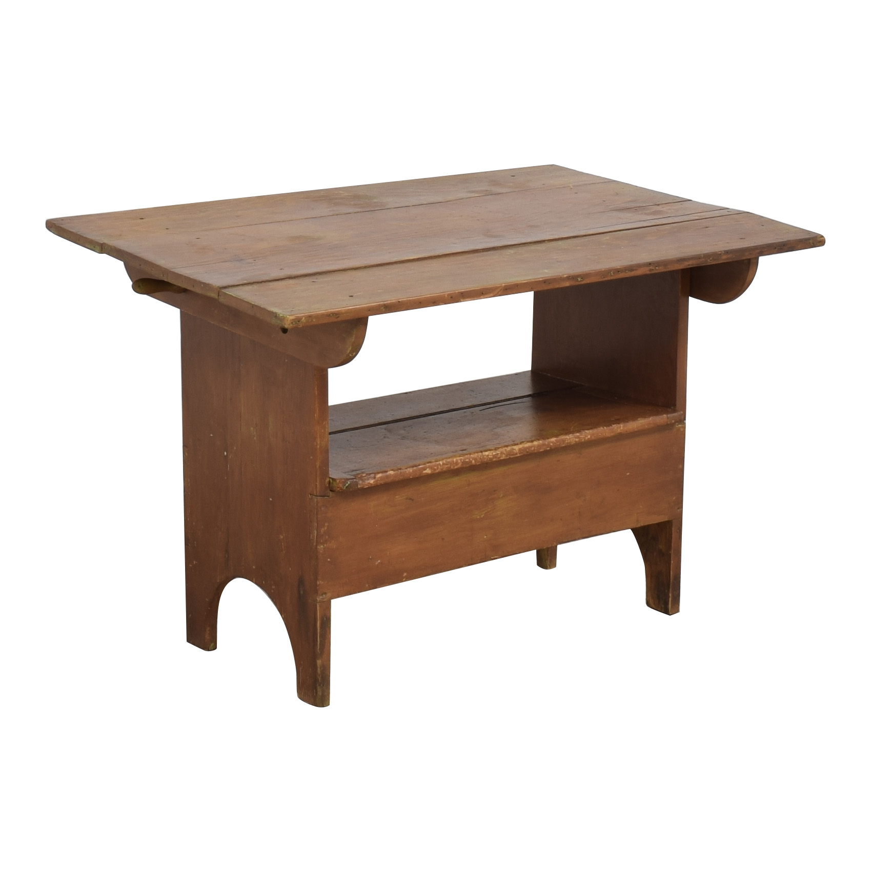 buy Hutch Table Monk's Bench with Trunk  Trunks