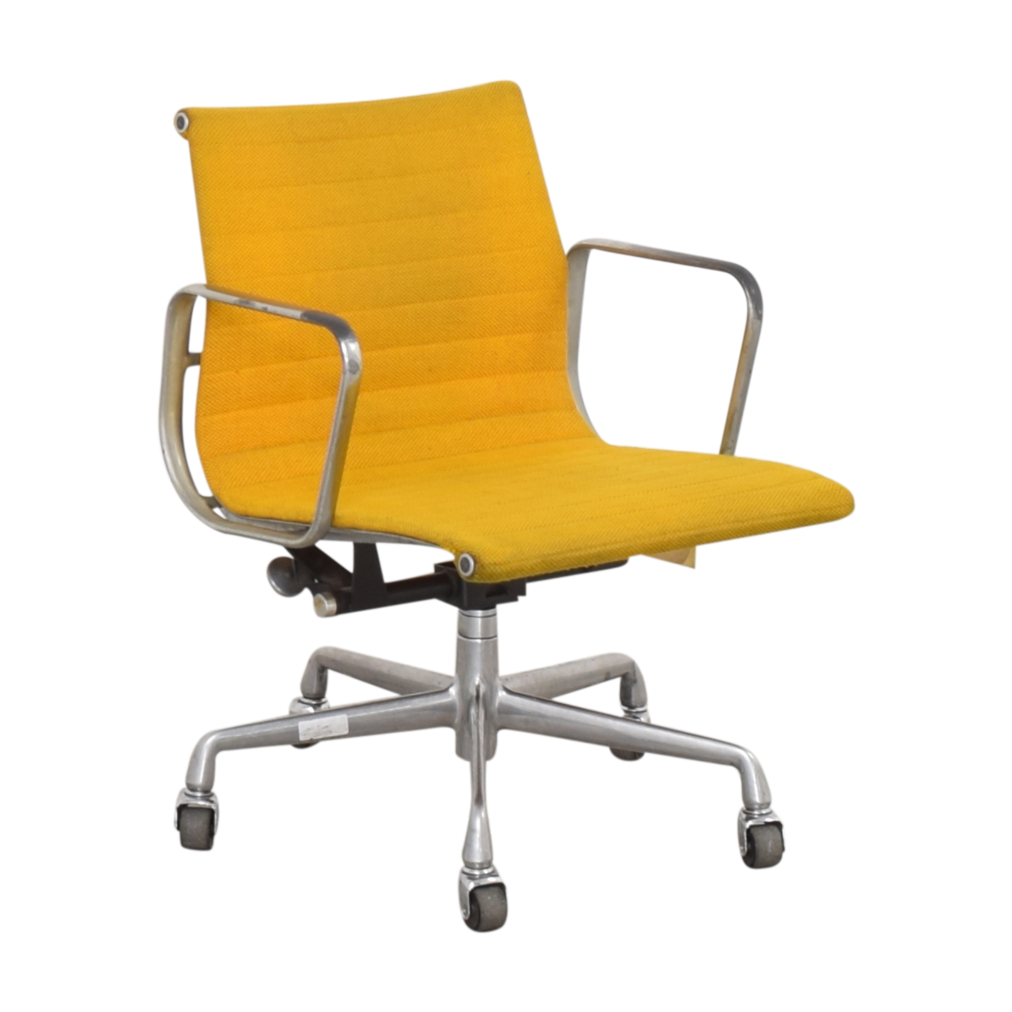 Herman Miller Herman Miller Eames Aluminum Group Management Chair yellow and silver
