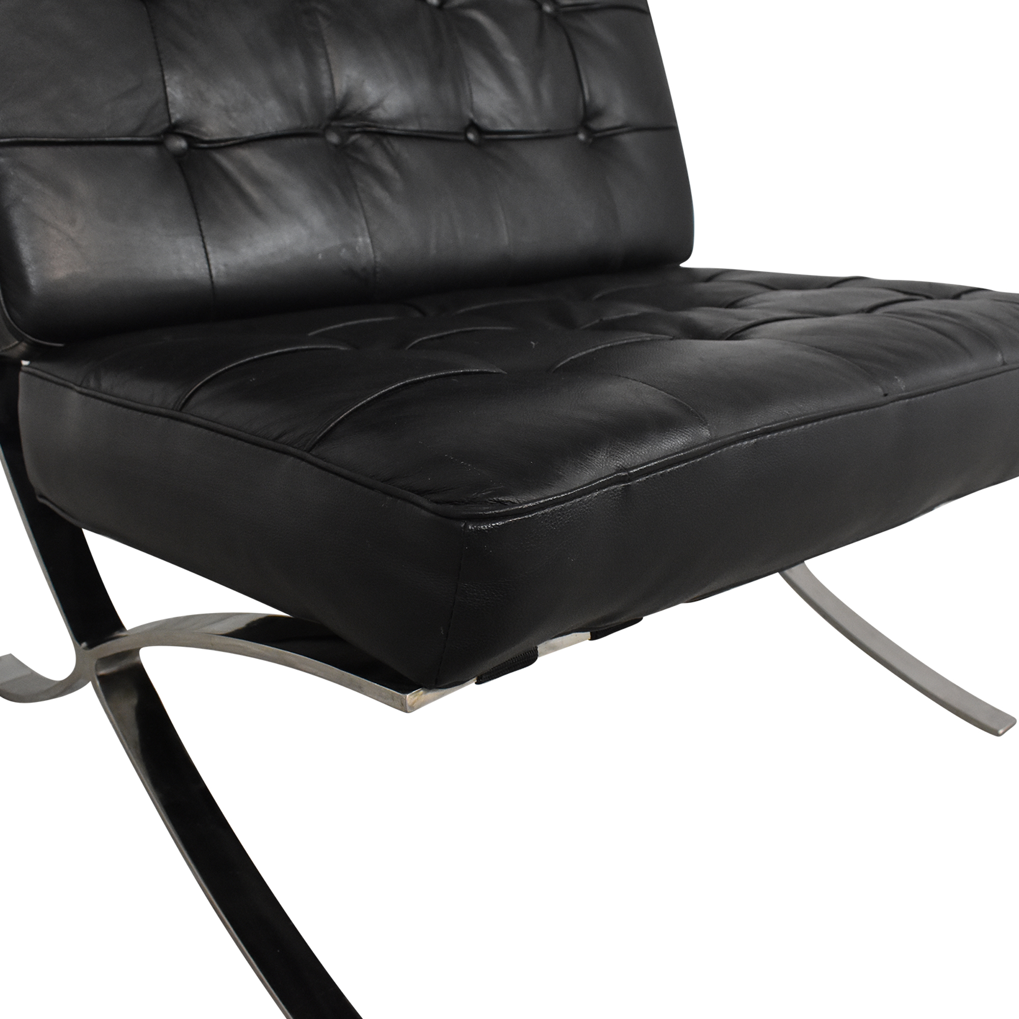 Barcelona-Style Chair black