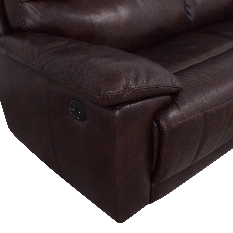 Raymour & Flanigan Raymour & Flanigan Reclining Sofa dimensions