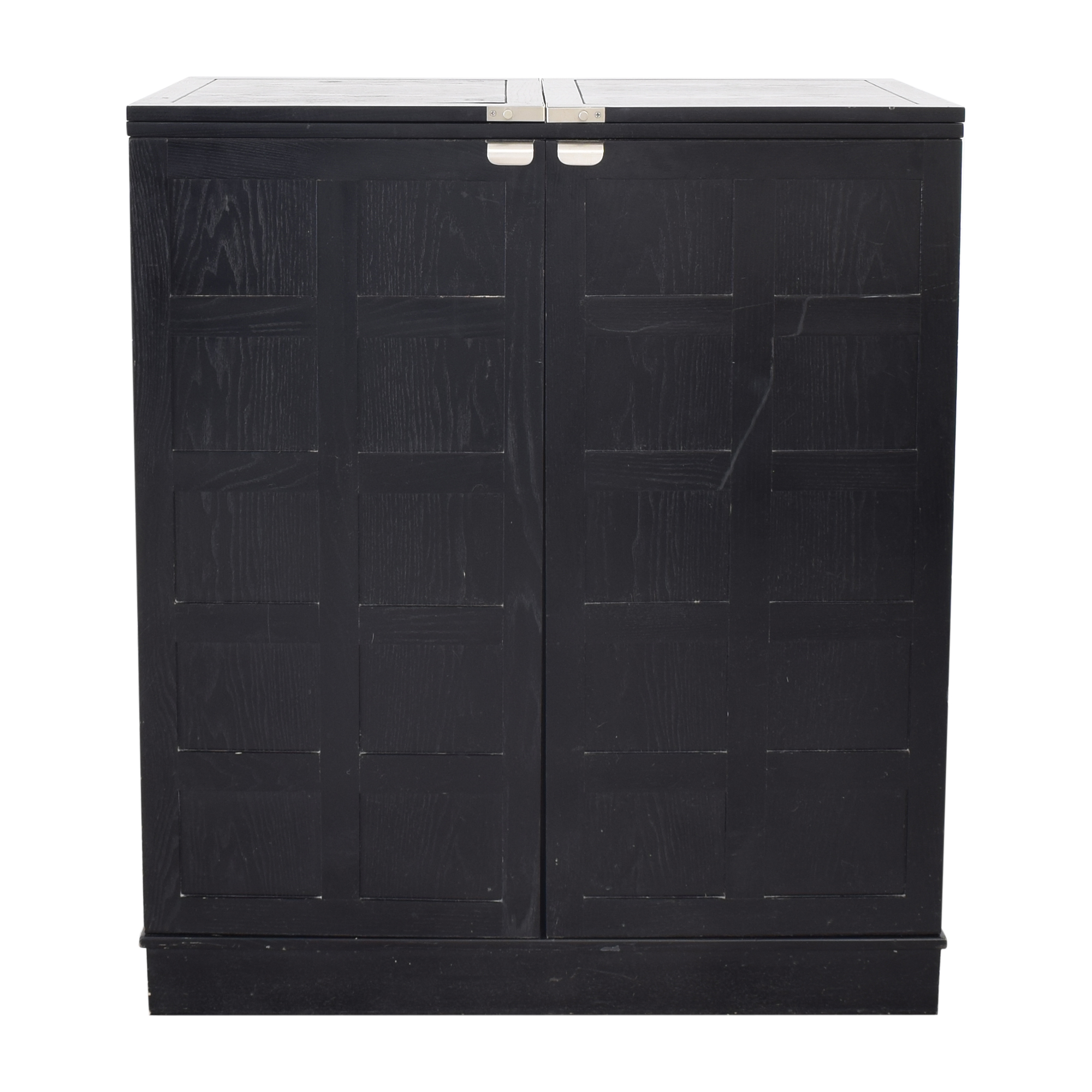 Crate & Barrel Crate & Barrel Steamer Bar Cabinet black