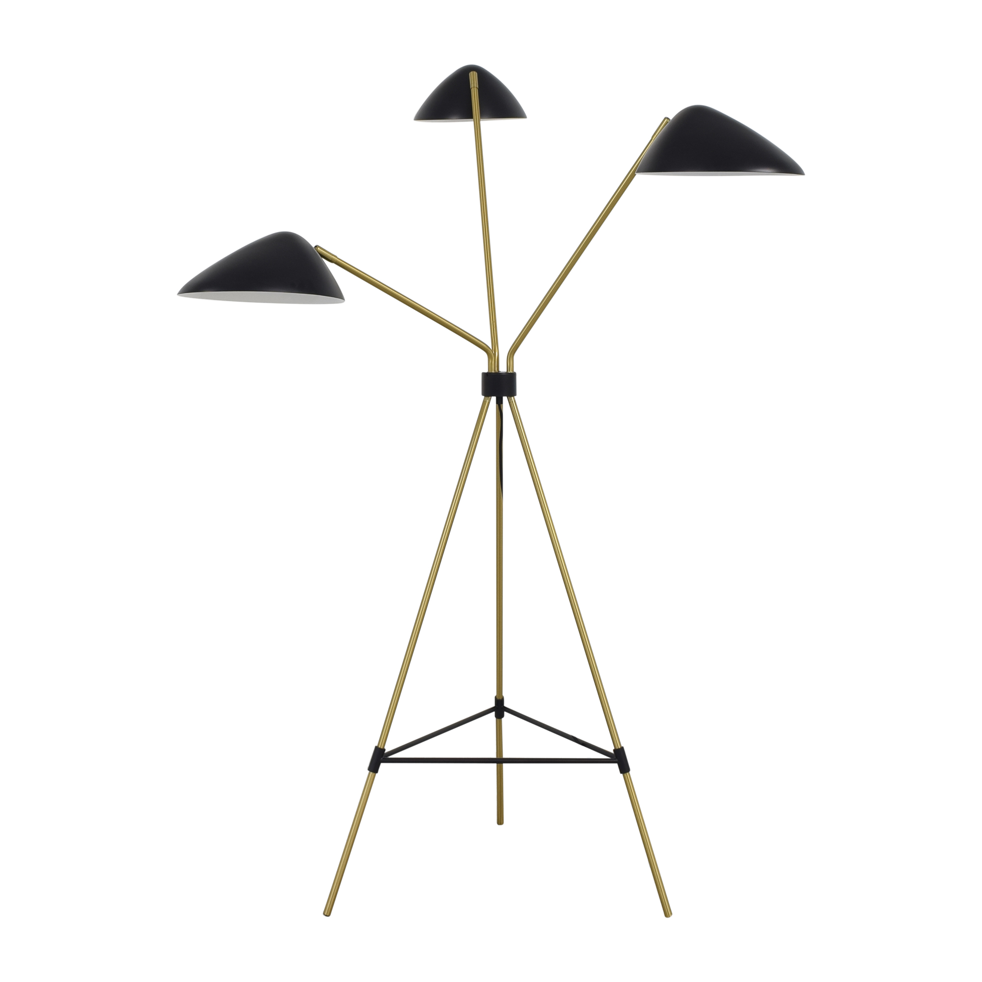 West Elm West Elm Curvilinear Mid-Century Floor Lamp black and gold