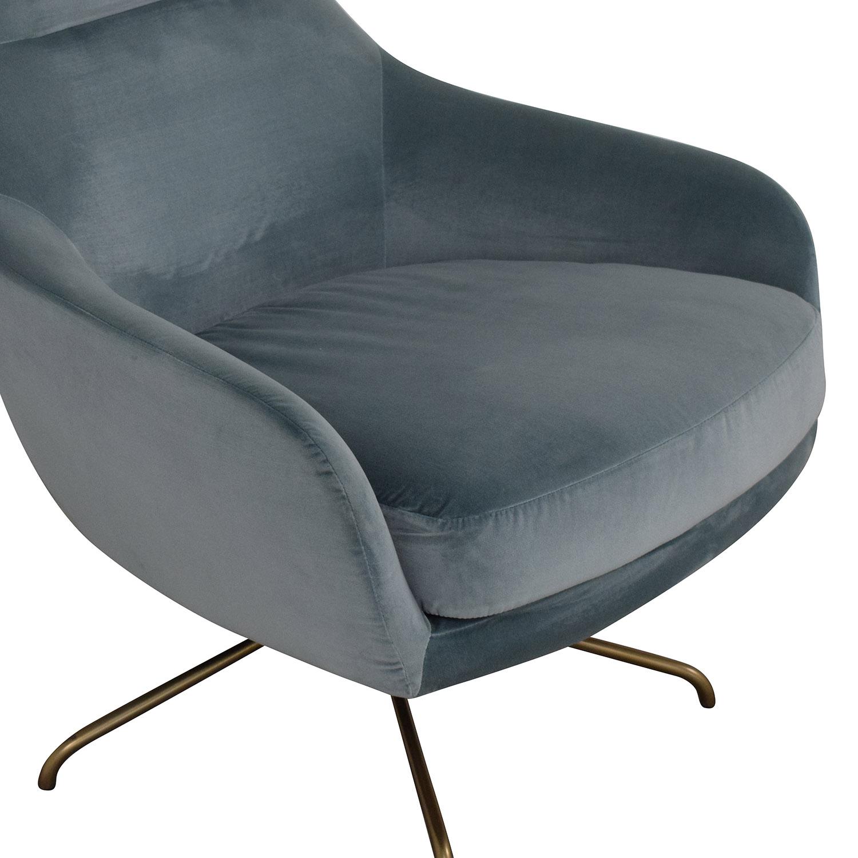 buy West Elm Valentina Swivel Chair West Elm