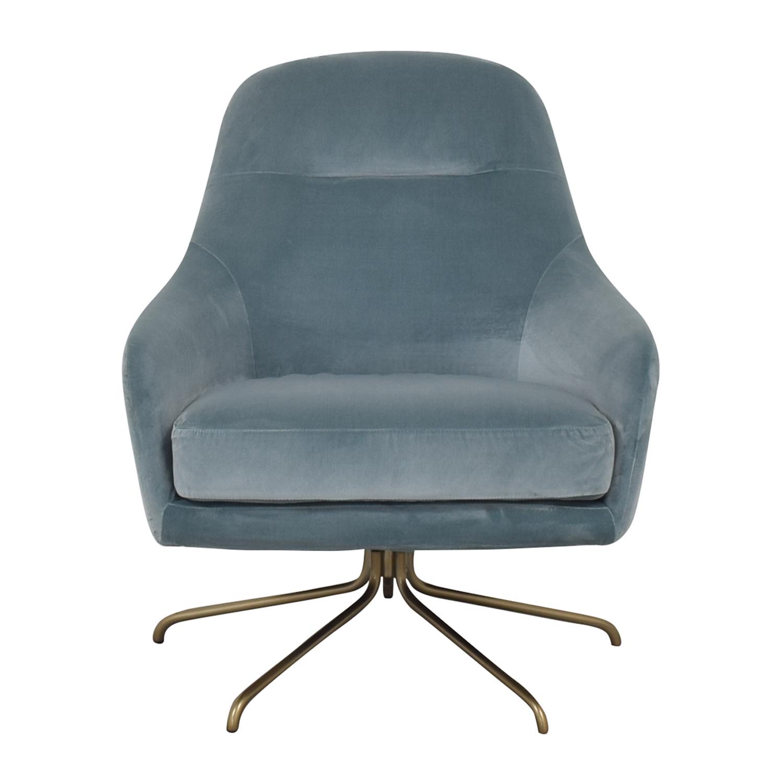 West Elm West Elm Valentina Swivel Chair dimensions