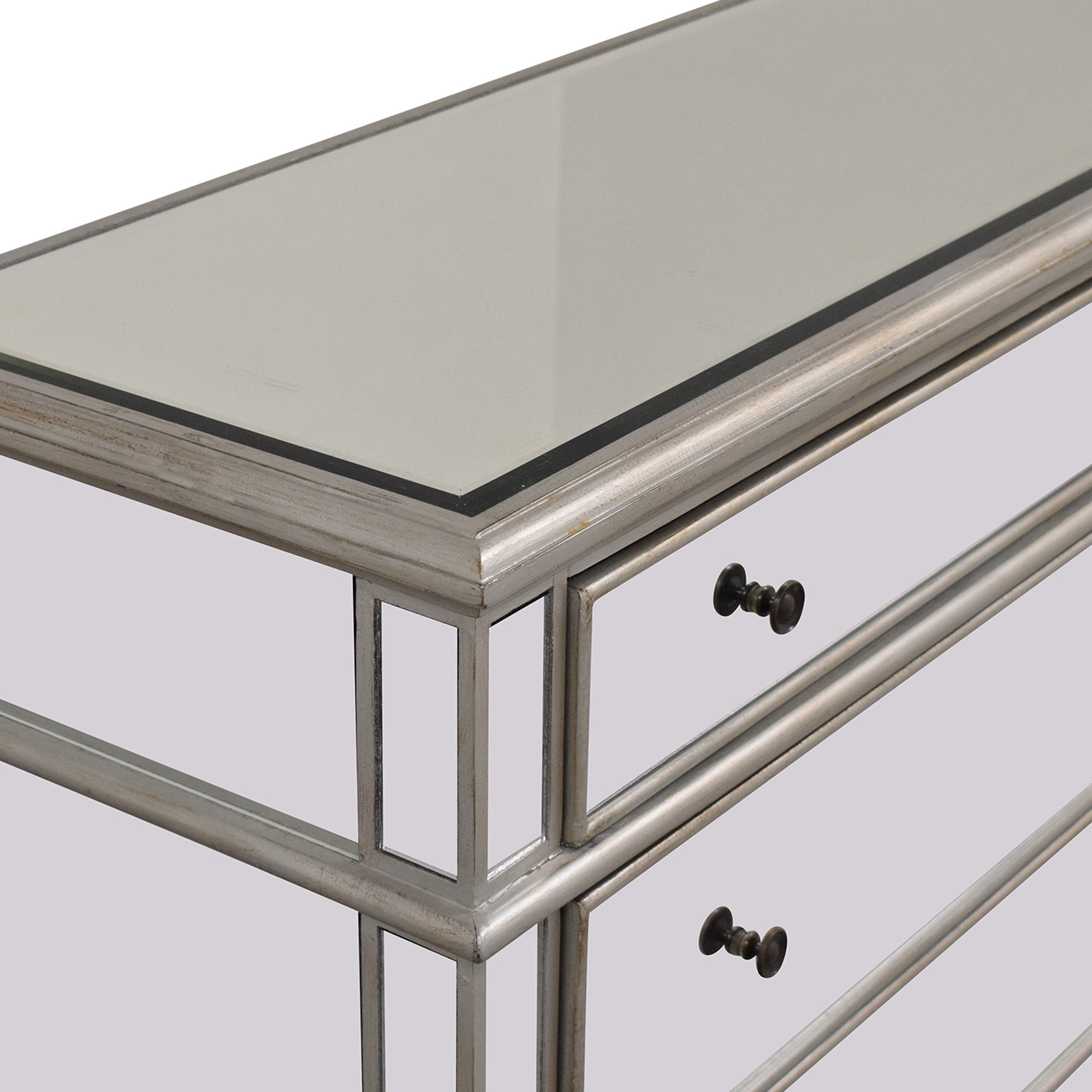 Josephine Wide 3-Drawer Mirrored Accent Chest nyc