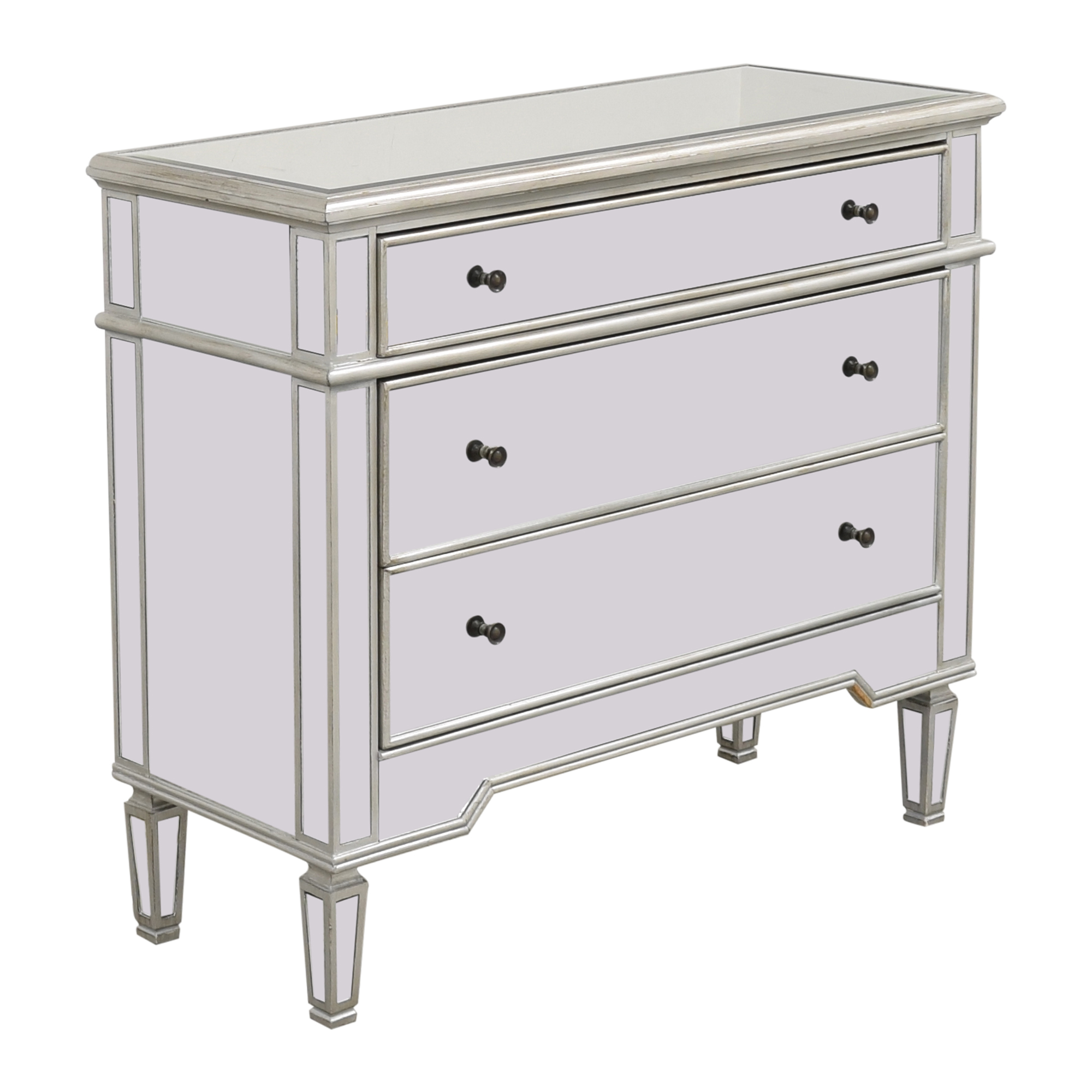 Josephine Wide 3-Drawer Mirrored Accent Chest / Dressers