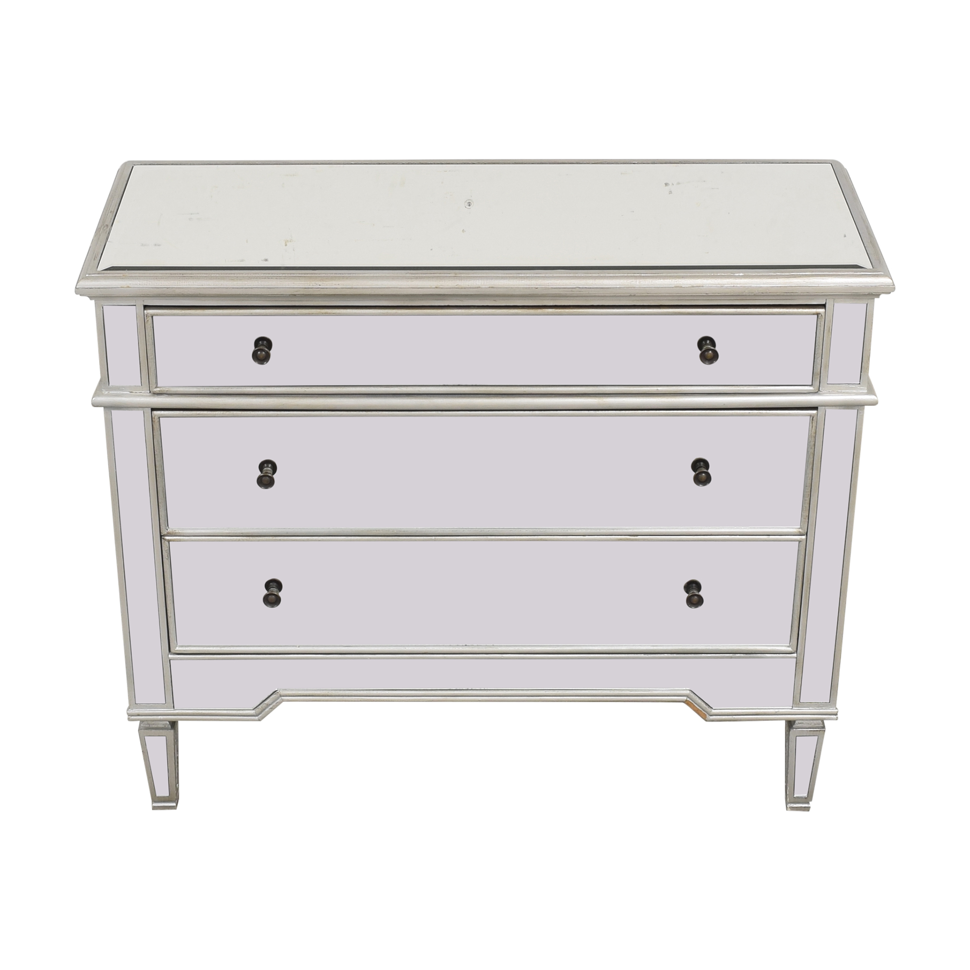 shop Josephine Wide 3-Drawer Mirrored Accent Chest  Dressers