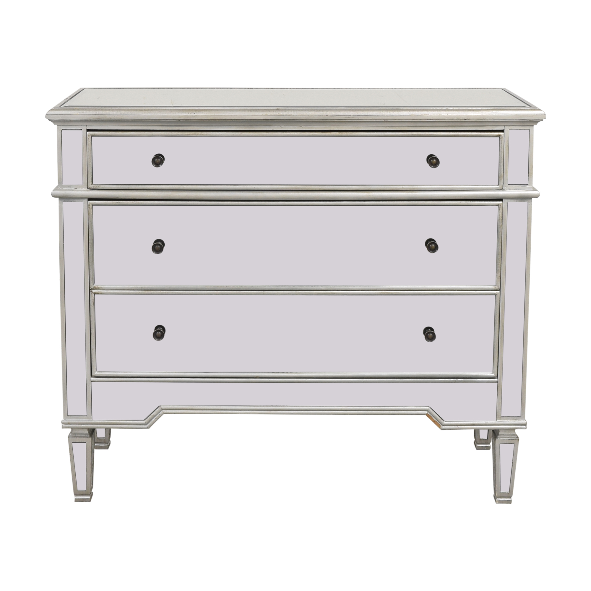 Josephine Wide 3-Drawer Mirrored Accent Chest sale