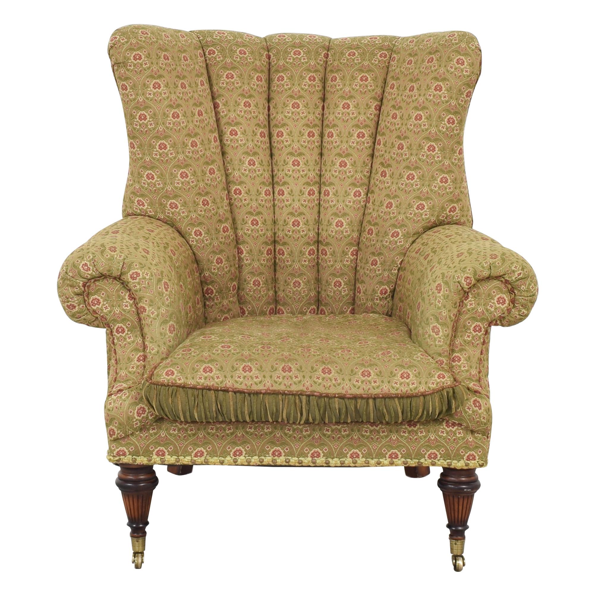 Key City Furniture Key City Jeff Zimmerman Wingback Lounge Chair multi